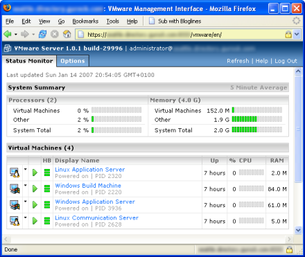 VMware Server in action