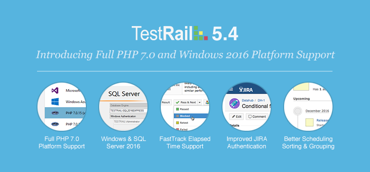 Announcing TestRail 5.4 Platform Release with PHP 7.0 Support, Windows and SQL Server Updates