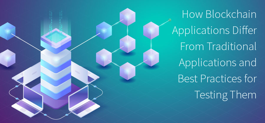 Blockchain technology, testing blockchain, blockchain, disrupting industries, new technology, blockchain applications, distributed applications, code live with data, smart contracts, testing applications differently, blockchain applications differ from traditional applications, best practices for testing blockchain. TestRail.