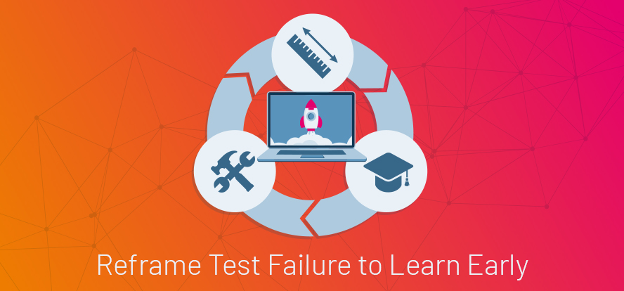 Software product development, Learning from test failure, Testing uncertainty, Learning from test results, Learn early, Test failure, TestRail.