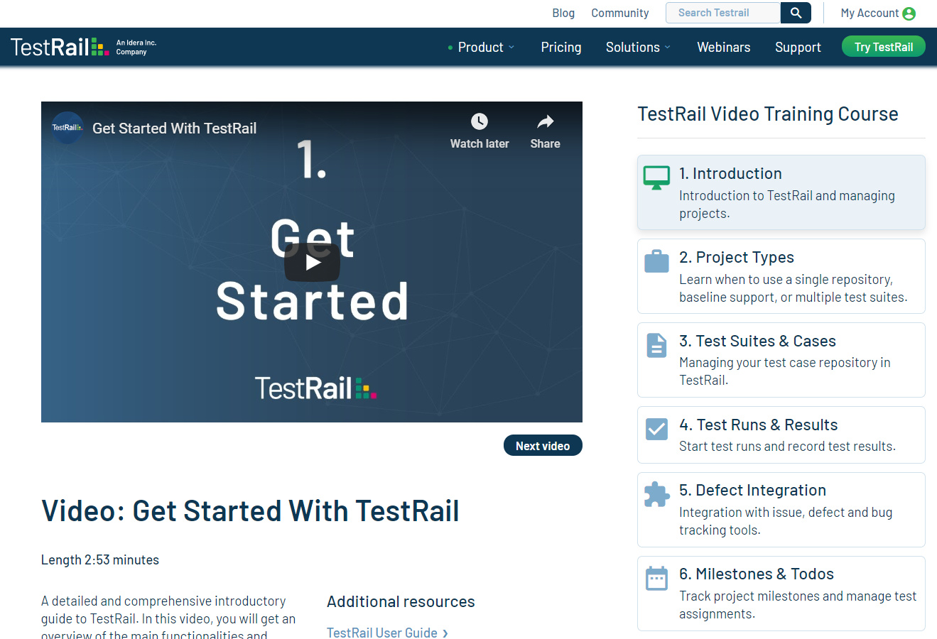 TestRail Video Training Course